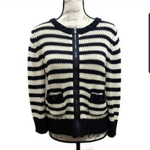 Ann Taylor Loft Zip Front Cardigan Medium